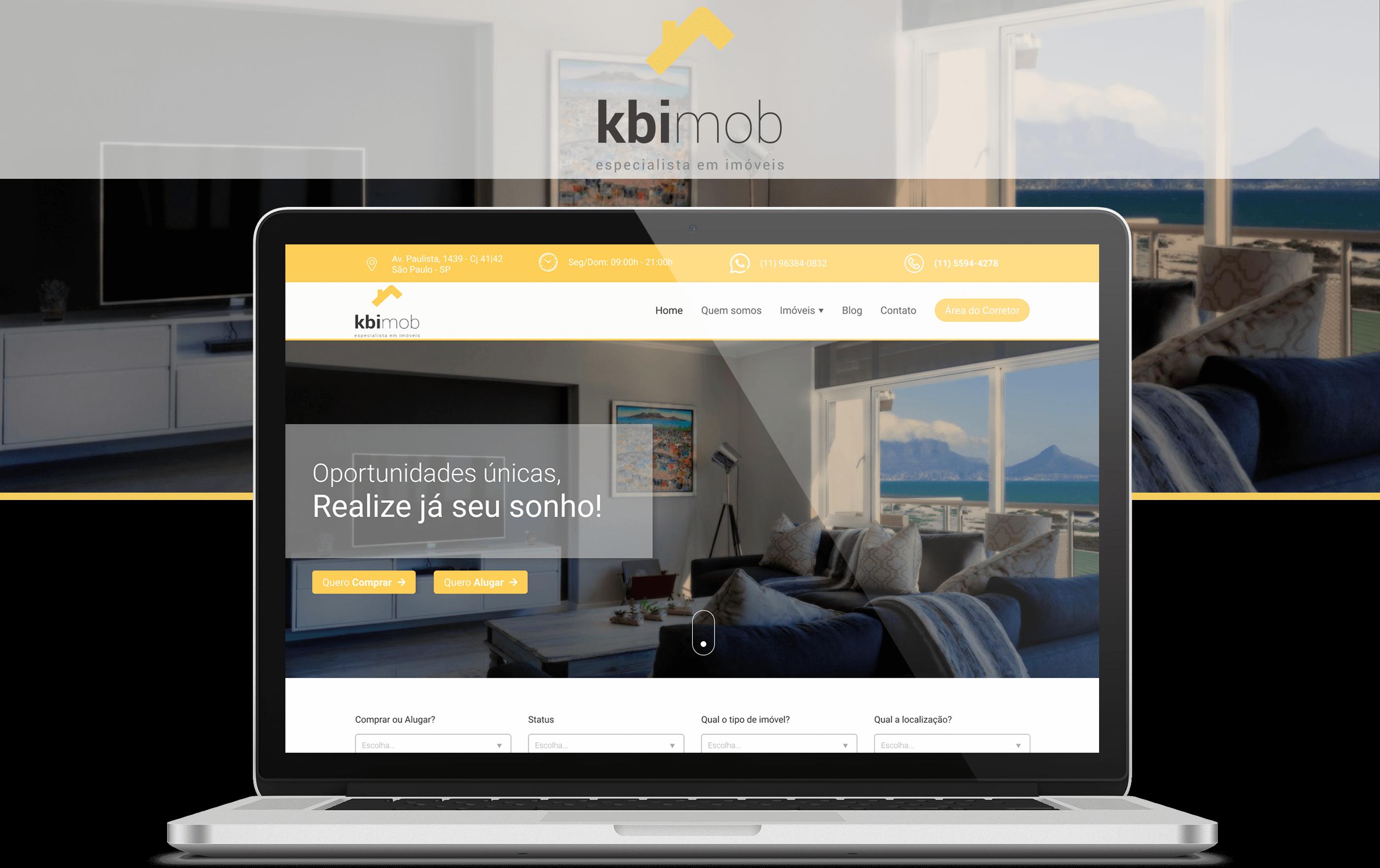 Projeto Imobiliária KBImob - Goognet Solução Digital